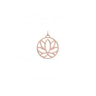 """Pendentif Les Essentielles """"Lotus"""" Finition Rosée 25 mm"""