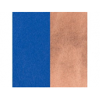 Cuir pour Manchette Bleu Outremer / Rose Sirène 40 mm