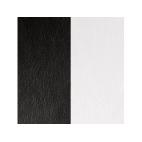 Cuir pour Manchette Noir / Blanc 40 mm