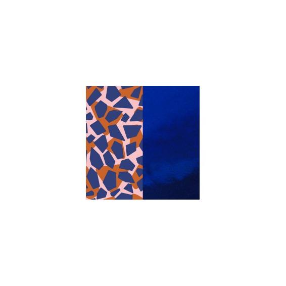 Cuir pour Manchette Girage / Bleu Vernis 40 mm