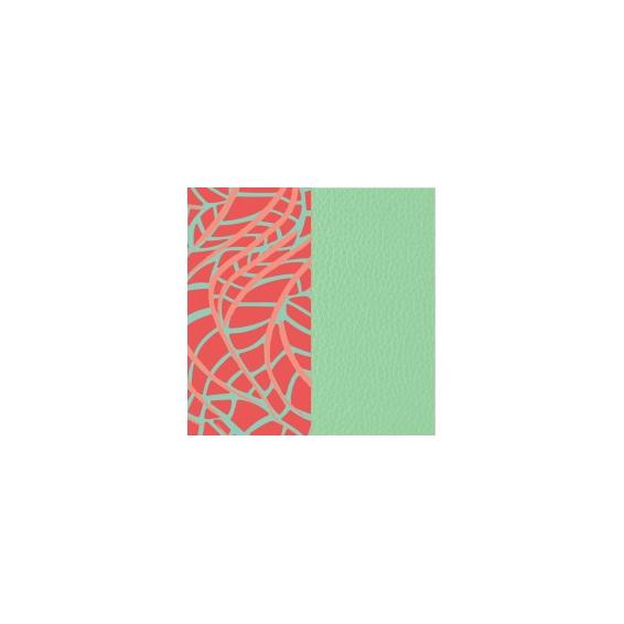 Cuir pour Manchette Fougères / Vert d'Eau 40 mm