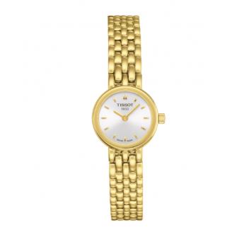 Montre femme Tissot Lovely acier PVD or jaune