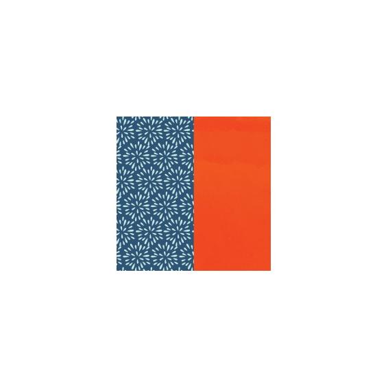 Cuir pour Manchette Plumetis / Orange vernis 40 mm