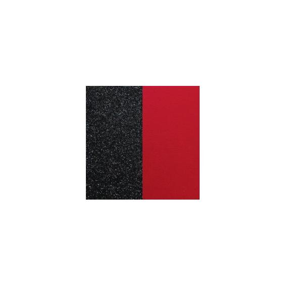Cuir Pour Pendentif 16 mm Paillettes Noires / Rouge