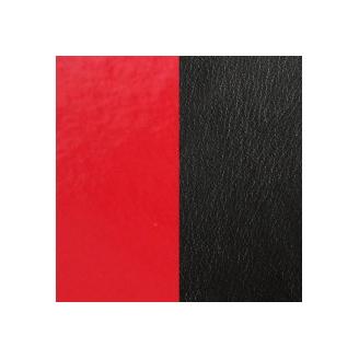 Cuir pour Pendentif Rond Moyen 25 mm Rouge Vernis / Noir