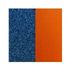 Cuir pour Manchette Bleu Pailletté / Abricot 14 mm