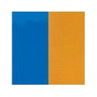 Cuir pour Pendentif Rond 25 mm Bleu Vif Vernis / Moutarde