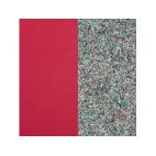 Cuir pour Pendentif Rond Moyen 25 mm Framboise Soft / Paillettes Multicolores