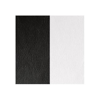 Cuir pour Pendentif Rond Moyen 25 mm Noir / Blanc