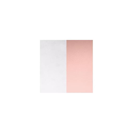 Cuir pour Pendentif Rond Moyen 25 mm Gris Clair / Rose Clair