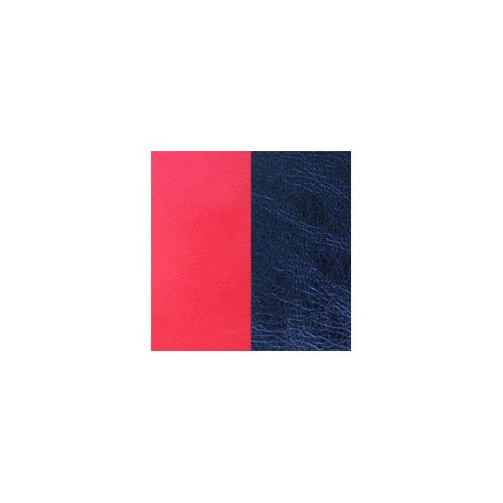 Cuir pour Grand Pendentif Rond 45 mm Corail / Marine Métallisé