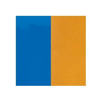 Cuir pour Manchette 14 mm Bleu Vif Vernis / Moutarde