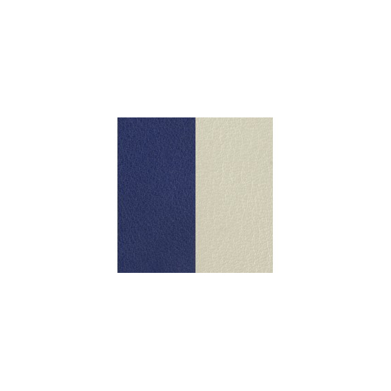 Cuir pour Manchette Indigo / Blanc Cassée 14 mm