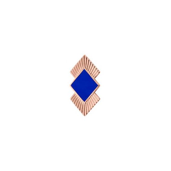 Clip Couture Finition Dorée Rose et Laque Bleu 25mm