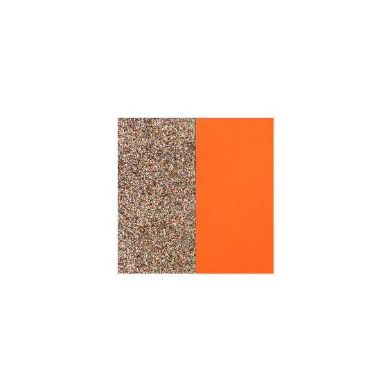 Cuir pour Manchette Paillettes multicolores / Tangerine 14 mm