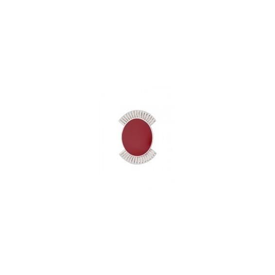 Clip Couleurs Finition Argentée et Résine Framboise 25 mm