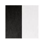 Cuir pour Manchette Noir / Blanc 14 mm