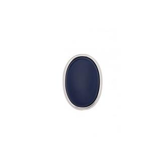 Clip Couleurs Finition Argentée et Résine Bleu Marine 40 mm