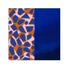 Cuir pour Manchette Girafe / Bleu vernis 14 mm