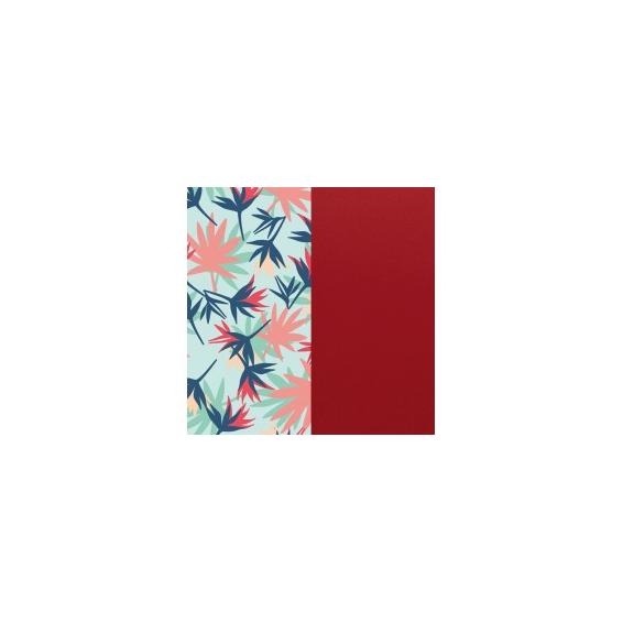Cuir pour Manchette Les Essentielles Oiseau de Paradis / Framboise 14 mm
