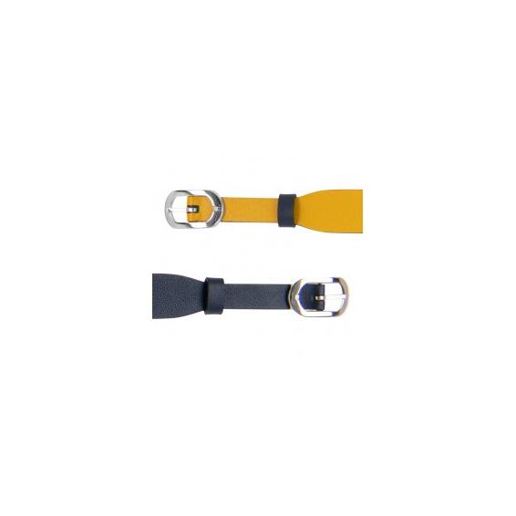 Bracelet de Montre 14 mm Argenté Cuir Sun / Marine