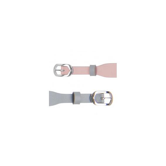 Bracelet de Montre Argenté 14 mm Gris Clair / Rose Clair