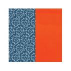 Cuir pour Manchette Plumetis / Orange vernis 14 mm