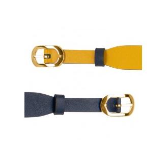 Bracelet de Montre Doré 14 mm Cuir Marine / Sun