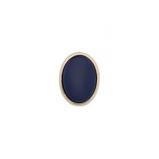 Clip Couleurs Finition Dorée et Résine Bleu Marine 25 mm