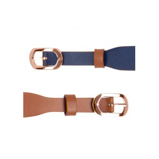 Bracelet de Montre Rosé 14mm Cuir Denim / Canyon