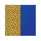 Cuir pour Manchette Guépard / Bleu Outremer 14 mm