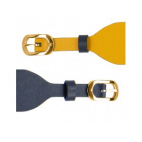 Bracelet de Montre Doré 25mm Cuir Sun / Marine