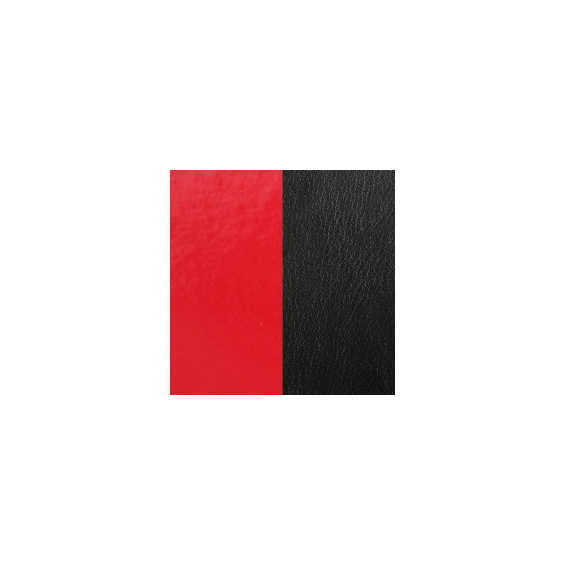 Cuir pour Manchette Rouge Vernis / Noir 25 mm