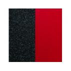 Cuir pour Manchette Noir Pailletté / Rouge 25 mm