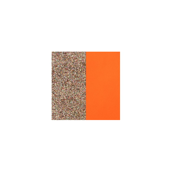 Cuir pour Manchette Paillettes Multicolores / tangerine 25 mm