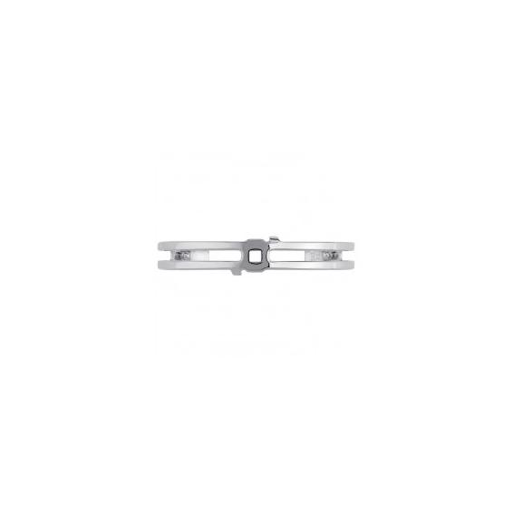 """Manchette Couture """"Structure"""" Finition Argentée 8 mm"""