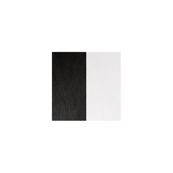 Cuir pour Manchette Noir / Blanc 25 mm