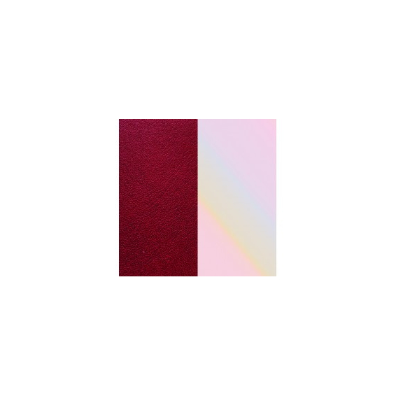Cuir pour Manchette Carmin/Coquillage 8 mm