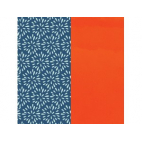 Cuir pour Manchette Plumetis / Orange Vernis 25 mm