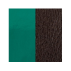 Cuir pour Manchette Vert Pin Vernis / Brun 8 mm
