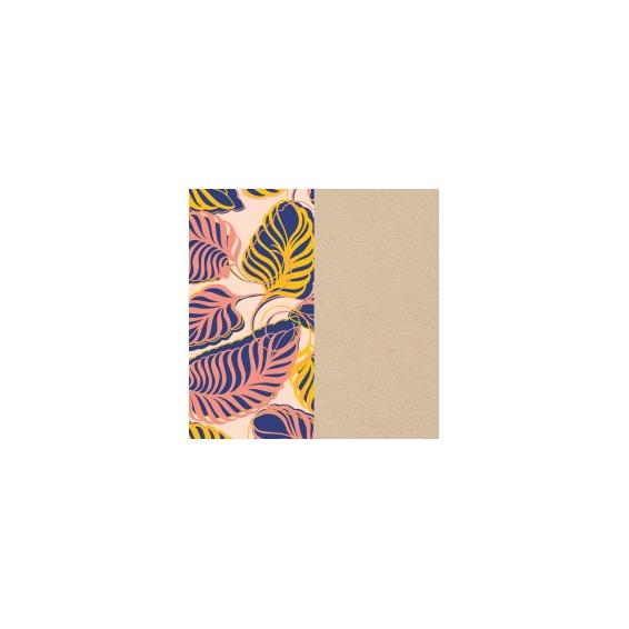 Cuir pour Manchette Feuillage / Crème 25 mm