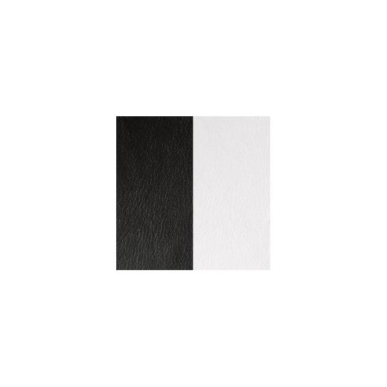 Cuir pour Manchette Noir / Blanc 8 mm