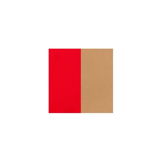 Cuir Pendentif Demi-Lune Rouge Soft / Beige