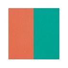 Vinyles pour Boucles d'Oreilles Terracotta / Bleu Lagon 16 mm