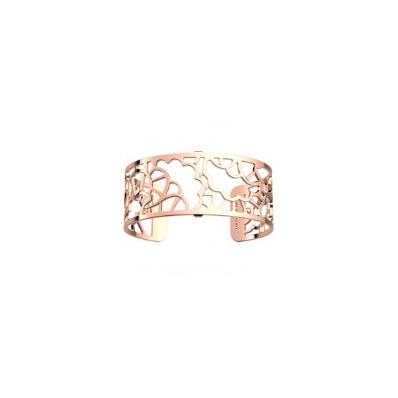 """Manchette Les Essentielles """"Fleurs de Mariage"""" Finition Rosée 25 mm"""