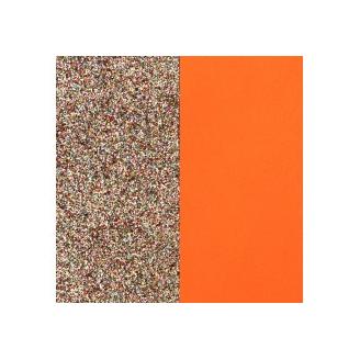 Cuir pour Manchette Miss Gergettes Paillettes Multicolores / Tangerine 12 mm
