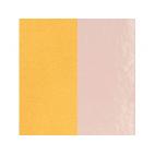 Cuir pour Manchette Rose Clair Vernis / Citron 40 mm