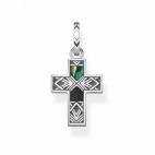 Pendentif Croix Nacre d'Abalone