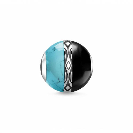 Karma Bead Ornement Turquoise et Noir