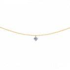 Collier 360° - Diamant Taille Princesse